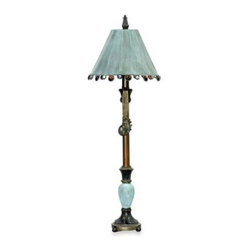 Dimond Lighting - Dimond Lighting Metal and Composite Rustic Tiffany Candlestick Table Lamp in Bro - With its tall, slender profile, this rustic Tiffany table lamp makes an outstanding choice for placement on your console table or dining buffet.