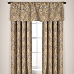 """Kensington Home Fashions - Monaco Rod Pocket Window Curtain Panels - These beautiful window treatments feature a regal design on a chenille fabric. The panels liven up any room and match with a variety of decors. The panels are sold individually and measure 54"""" wide."""