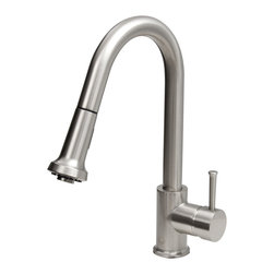 Vigo Industries - Stainless Steel Kitchen Faucet - Includes spray face and all mounting hardware and hot/cold waterlines