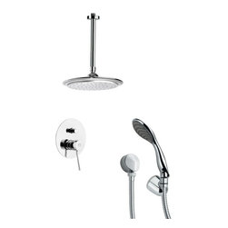 Remer - Modern Shower Faucet Set with Handheld Shower - Single function shower faucet.