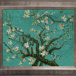 "overstockArt.com - Van Gogh - Branches of an Almond Tree in Blossom Oil Painting - 8"" x 10"" Oil Painting On Canvas Hand painted oil reproduction of a famous Van Gogh painting, Branches of an Almond Tree in Blossom. The original masterpiece was created in 1890. Today it has been carefully recreated detail by detail, color by color to near perfection. Van Gogh created this painting as a gift for his newborn nephew. The way he painted the brush strokes combined a sense of fragility and energy fitting for the young baby: A joyous and hopeful image for the child's future. Vincent Van Gogh's restless spirit and depressive mental state fired his artistic work with great joy and, sadly, equally great despair. Known as a prolific Post-Impressionist, he produced many paintings that were heavily biographical. This work of art has the same emotions and beauty as the original. Why not grace your home with this reproduced masterpiece? It is sure to bring many admirers!"