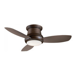 "Minka Aire - Minka Aire F518-ORB Concept II Oil Rubbed Bronze Flush Mount 44"" Ceiling Fan - Features:"