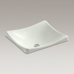 KOHLER - KOHLER DemiLav(R) Wading Pool(R) bathroom sink - Delicately sloping lines and a squared-off silhouette give the DemiLav Wading Pool sink a distinctive, contemporary style that sets it apart from traditional designs. The shallow basin depth creates a sleek focal point in your bathroom.