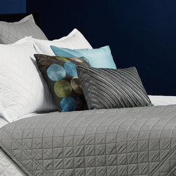Down Inc. - Quilted Coverlet - Features: -Material: Sateen weave cotton.-400 Thread count.-3'' Framed border.-Beautiful and timeless.-Distressed: No.-Country of Manufacture: United States.Dimensions: -Product weight: 2 lbs.-Queen: 96'' H x 92'' W.-King: 106'' H x 96'' W.