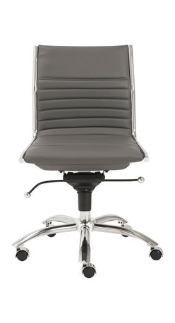 Euro Style - Euro Style Dirk Low Back Office Chair without Arms X-YRG66210 - Euro Style Dirk Low Back Office Chair without Arms X-YRG66210