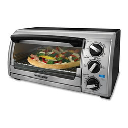 Black & Decker - Black & Decker TRO480BS Toast-R-Oven 4-slice Toaster Oven (Refurbished) - Perfect as a second oven or as an energy-efficient alternative to turning on the full-size oven,this countertop appliance offers a large capacity with a curved interior that can fit a 9-inch pizza or toast up to four slices of bread at a time