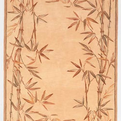 """KAS - KAS Sparta 3146 Bamboo Border (Ivory) 7'6"""" Round Rug - Our Sparta Collection in an exclusively designed line of hand-tufted carpets with an antique finish. These rugs are made in China using high-density Chinese wool. Classic and new designs in floral and other styles have been constructed using current color trends. These rugs are finished with an antique vegetable-dyed look and abrash effect. The combination of fresh color and design and the antique finish gives this collection unique trend-setting characteristics. No fringe."""