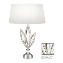 Fine Art Lamps - Fine Art Lamps 854410-11 Marquise Silver Polished Crystal Table Lamp - Fine Art Lamps 854410-11 Marquise Silver Leaf Table Lamp