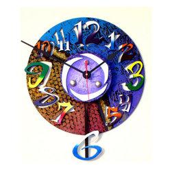 David Scherer Studios - Swing Wall Clock - - Wall clock  - Wood  - 1 AA battery required, not included David Scherer Studios - SWING