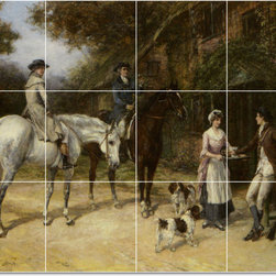 Picture-Tiles, LLC - Refreshments Tile Mural By Heywood Hardy - * MURAL SIZE: 24x32 inch tile mural using (12) 8x8 ceramic tiles-satin finish.