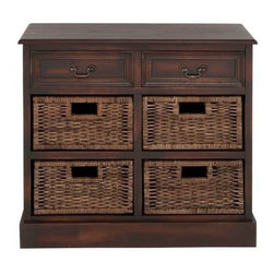 Benzara - Manhattans Coppice Exclusive Basket Dresser - Manhattans coppice exclusive basket dresser. This basket dresser will surely interest you. Some assembly may be required.