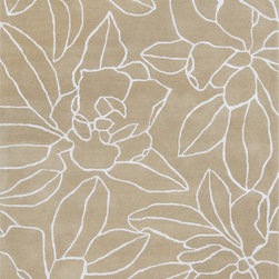 Surya - Surya Sanderson SND-4522 (Beige, Ivory) 5' x 8' Rug - This Hand Tufted rug would make a great addition to any room in the house. The plush feel and durability of this rug will make it a must for your home. Free Shipping - Quick Delivery - Satisfaction Guaranteed