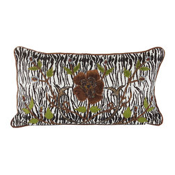 John Richard - John Richard Safari Print Velvet with Embro JRS-03-3256 - Safari print with embroidered floral and leopard print accented with multi-colored beads and sequins.