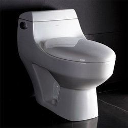 Eago - One Piece Ultra Low Flush Eco-Friendly Toilet - Ultra Low Flush 1.6 gpf. Not Dual Flush. Dimensions: 28 1/2in. x 16in. x 25in.. One Piece Toilet. European design. Siphonic Flush System. New tower based mechanism; No chain, no flapper. Fully Glazed inside & out. Soft Closing Toilet Seat, Lid & wax ring included. Powerful & efficient 3in. flushing valve. Wide water surface allows for easy cleaning. Balanced water distribution. EAGO Eco-Friendly Dual Flush One Piece Toilets. ManualThe Future of American Toilets. Ultra Low Flush (ULF) Eco-Friendly 1.6 Gallon flush. The Most Advanced Flushing System. Only One Flush. This environmentally friendly toilet will save a family of four an average of 10,000 gallons of water per year! Never be startled again by the loud crash of a slamming toilet seat. The soft drop seat has an innovative hinge system that will gently guide the toilet seat down with out a sound.