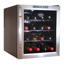 Epicureanist - Vinotemp VT-16TEDS 16-bottle Thermoelectric Wine Cooler - Keep 16 bottles chilled and easily accessible with this stainless-steel thermoelectric wine cooler. The thermoelectric system is not only good for the environment, but also has very few moving parts and will keep your expensive wine still.