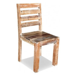 HAMPTON LIME WASH CHAIR - Sometimes simple is just the best way to go. This modern interpretation of the old fashioned library chair is easy on your eyes and seat. Simplify your home and bring this lime washed wooden chair into your life today!