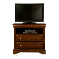 Alpine Furniture - Chesapeake TV Media Chest with 2 Drawers - Chesapeake TV Media Chest with 2 Drawers