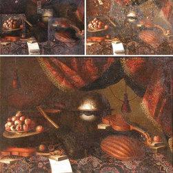 Painting. Art Conservation & Restoration Sergey Konstantinov. - Bartolomeo Bettera. Still-Life with Musical Instruments. Painting oil on canvas.