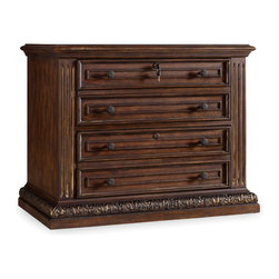 Hooker - Hooker Adagio Lateral File 5091-10466 - Grand scale, classic design and soft, flowing shapes are married with a rich, dark finish to give birth to the stunning Adagio collection.