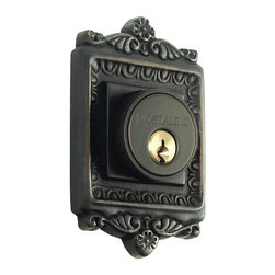 Nostalgic Warehouse - Egg and Dart Double Cylinder Deadbolt Keyed Differently, Oil-Rubbed Bronze - With its distinctive repeating border detail, as well as floral crown and foot, the Egg and Dart Double Cylinder Deadbolt in oil-rubbed bronze resonates grand style. Keyed differently. Made of solid (not plated) forged brass for durability and beauty.