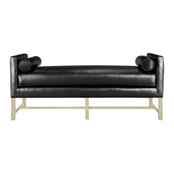 Andrew Day Chaise - I designed this chaise for a sophisticated client who desired a Barcelona influence. We named it Andrew, which is a Drohan family name. This incredibly versatile chaise has the clean lines of the Barcelona, but is also extremely comfortable. It is the perfect spot to cuddle up with a great book or catch a little cat nap.