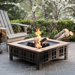 Red Ember Olympia Square Tile Fire Pit - Create an ambient setting for your outdoor space with the wood burning Red Ember Olympia Square Tile Fire Pit. The beautiful square desert sand tile surround provides a warm welcome to guests and adds a calming aesthetic to your exisiting decor. Constructed durably from robust steel and finished in a rich rubbed bronze color, this wood burning fire pit is ready to extend the outdoor seasons for all you're gatherings. The fire poker allows you to control the fire, and the steel mesh grate provides plenty of air flow to promote a vibrant flame. Use the heavy duty lid and durable weather-resistant cover to protect it when not in use. About Red EmberAt the center of any good outdoor gathering is a fire. At the center of a fire, a Red Ember. We make fire products designed to bring people together. Red Ember products harness the age-old power of fire to comfort, heat, cook, and enchant. Our experience and expertise in the industry allow us to provide added features and extras without burning a hole in your pocket. It's not about spending a lot of money - it's about lighting a fire. Get together and gather 'round a Red Ember.