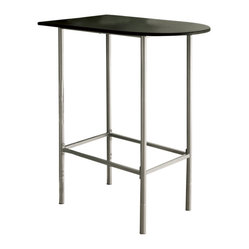 Monarch Specialties 36x24 Spacesaver Bar Table in Black and Silver