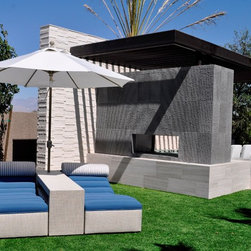 """Santorini Collection-As Seen on HGTV """"Scott Brothers At Home"""" - HGTV """"Scott Brothers At Home"""" Las Vegas Dream Home Chaise Loungers"""