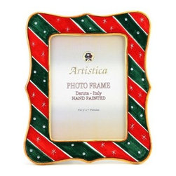 Artistica - Hand Made in Italy - Photo Frame: Deruta Christmas Holidays - Deruta Photo Frames:
