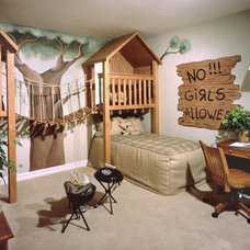 Contemporary  Boys only Room