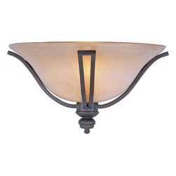 Joshua Marshal - One Light Oil Rubbed Bronze Wilshire Glass Wall Light - One Light Oil Rubbed Bronze Wilshire Glass Wall Light