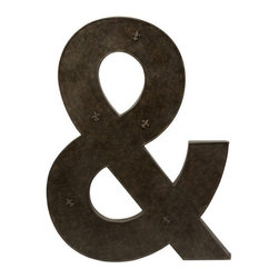 "IMAX - Ampersand Metal Magnet Board with Magnets - Fleur-de-Lis magnets hold up notes and photos to this oversized metal magnet board ampersand. Great for office spaces and family areas. Item Dimensions: (39.25""h x 29.25""w)"
