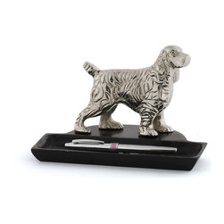 Dog Pen Holder- Set of 2 - Beautiful Dog Pen Holder , Use this handsome and versatile holder for pens on your desk, as a vase for flowers, or for keys Made with nickel plated brass and has polished nickel and iron.