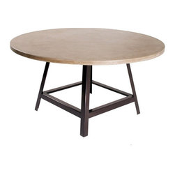 "Hart concrete Design - Craftsman Dining Table, 42"" - The Craftsman Dining Table is handmade to order by Hart Concrete Design in the United States. The Craftsman Dining table has a 1"" X 1"" Steel Tube base, powder coated in black with a 1"" polished concrete top."