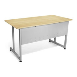 """OFM - Modular Desk/Worktable - This 30""""x48"""" modular training/work table has a contemporary design that is perfect for any training room, office, or school environment! The powder-coated 16 gauge steel frame is both stray. and sturdy. Built-in leveling guides are included. Features: -Worktable.-Scratch-resistant thermofused melamine surface.-Adjustable leveling glides.-Scratch-resistant powder coated paint finish on durable steel base and frame.-Perfect for general office use and commercial use.-Distressed: No.Dimensions: -Tabletop Thickness: 0.75"""".-Tabletop Dimensions: 30"""" x 48"""".-Dimensions: 29.5"""" H x 30"""" W x 48"""" D.Assembly: -No tools required for assembly.-Assembly require."""