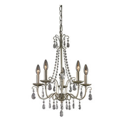 Sterling Industries - Sterling Industries 122-012 Antique Silver Chandelier In Silver & Clear - Chandelier (1)