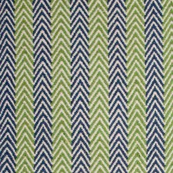 Hook & Loom Rug Company - Lanesborough Denim/Green Rug - Very eco-friendly rug, hand-woven with yarns spun from 100% recycled fiber.  Color comes from the original textiles, so no dyes are used in the making of this rug.  Made in India.