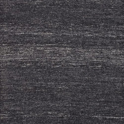 """Loloi Rugs - Loloi Rugs Paxton Collection - Black, 3'-6"""" x 5'-6"""" - The Paxton Collection is a 100% viscose flat weave from India available in solid, tonal design and a neutral set of colors. Its understated tonal pattern works in a broad range of interiors, yet is unconventional enough to add character to an interior space."""