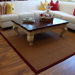 Hickory Wood Flooring Design Inspiration - Hickory flooring with stain in a contemporary living area.