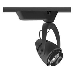 Juno Lighting - Trac-Master T406 Conix Low Voltage MR16 Track Light, T406bl - The sleek sculptured look and style of the Conix fixture is unparalleled in the industry. Its elegance is carried through the entire design for a fresh, contemporary appeal. Conix fixtures relamp from the front and have snap-in accessory holders. All can accommodate up to two accessories. Lampholders have integral horizontal rotation and vertical aiming locks.The Conix series combines elegant aesthetics with professional display lighting features.