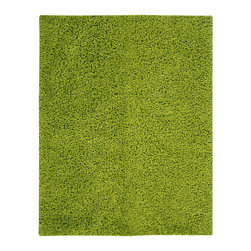 "Nourison - Nourison Zen ZEN01 7'6"" x 9'6"" Wasabi Area Rug 07879 - The shag is back and it's better than ever. With its effervescent wasabi hue, eclectic vibe, plush pile and soft sheen, this hip yet cozy rug feels as fabulous as it looks."
