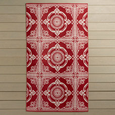 mediterranean towels Tile Beach Towel