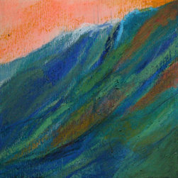 Kiele Gregoire - Maui by Kiele Gregoire - Surf's up! Kiele Gregoire captures the changing colors of the sea with a gigantic Hawaiian wave that's ready to make a big splash on your beach or tropical themes. You could say it's the ideal hang-up for hanging loose.