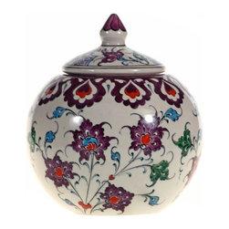 Mediterranean Sea Round Jar, Design A - Mediterranean Sea Round Jar
