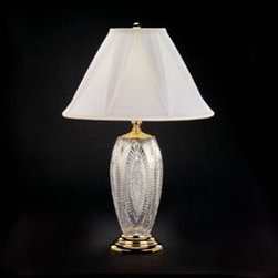 "Waterford Crystal - Waterford Crystal Reflections Table Lamp 1166583000 - Waterford Reflections Table Lamp  -  This stunning Table Lamp brings radiance to any desk or bedside table. Polished Brass Finish details complement the intricate detailing of fine crystal, while the White Rapture Shade with Draped Panels beautifully diffuses the light from an up to 100 watt bulb.  -  Don't Buy From An Unauthorized Dealer  -  Genuine Waterford Crystal  -  Size: 30"" x 20""  -  Fully Authorized U.S. Waterford Crystal Dealer  -  Brand New In The Original Waterford Crystal Box  -  Each Piece Is Checked 4 Times To Ensure It Arrives In Perfect Condition  -  Stamped With The Waterford Seahorse Symbol Of Excellence  -  Waterford Crystal Table Lamps Collection  -  Waterford Crystal UPC Number: 91571190023"