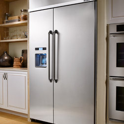 """Dacor Discovery 48"""" Built-In Refrigerators - Dacor Discovery 48"""" Built-In Refrigerators help to define your luxury kitchen.  With advanced features like the Ingredient Care Center - that ensures ultimate freshness, taste, and texture of your favorite cheeses, fresh produce, herbs and meats in an electronically-controlled temperature-adjustable drawer - your refrigerator performs as smartly as it looks.  PrecisePour™ shows the amount of water dispensed in ounces, cups or liters for easy and accurate measuring, while the large dispenser landing accommodates over-sized cups, sports bottles and tumblers.  The SureSeal™ Gasket System creates a firm instant seal that keeps the cold air inside to guarantee maximum food preservation.  Cool inside . . . beautiful outside."""