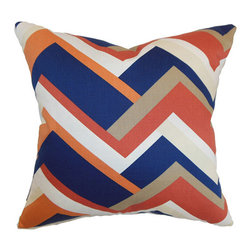 The Pillow Collection - Hoonah Orange 18 x 18 Geometric Throw Pillow - - Pillows have hidden zippers for easy removal and cleaning  - Reversible pillow with same fabric on both sides  - Comes standard with a 5/95 feather blend pillow insert  - All four sides have a clean knife-edge finish  - Pillow insert is 19 x 19 to ensure a tight and generous fit  - Cover and insert made in the USA  - Spot clean and Dry cleaning recommended  - Fill Material: 5/95 down feather blend The Pillow Collection - P18-D-21045-MELON-C100