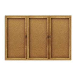 Quartet Oak Enclosed Cork Bulletin Board for Indoor Use - 72 x 36 in. - About QuartetQuartet knows that you just have to write it down or you'll forget. They've been in the whiteboard, bulletin board, and chalkboard business since 1945 and have perfected the art of the perfect surface. Today, they boast a full line of visual communication products used at home, in the office, in hospitals, and in schools across the country. When you're looking for a product to help you communicate, you're looking for Quartet.