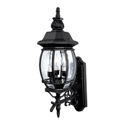 Capital Lighting - Capital Lighting 9863BK French Country Black Outdoor Wall Sconce - Capital Lighting 9863BK French Country Black Outdoor Wall Sconce