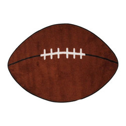 Fun Rugs - Football Kids Rug - Your child's room is a natural extension of them. Add these innovative designs from LA Rug to spruce up any child's decor.